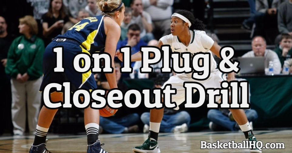 1 on 1 Plug and Closeout Basketball Drill