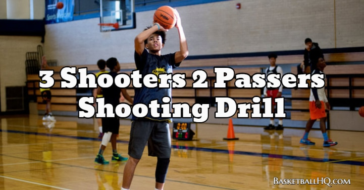 3 Shooters 2 Passers Basketball Shooting Drill