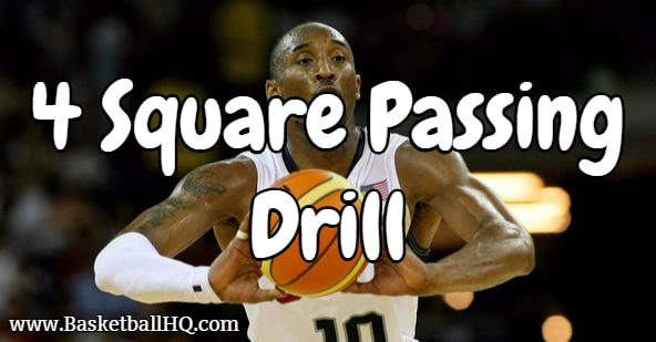 4 Square Basketball Passing Drill