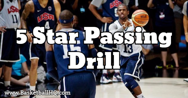 5 Star Basketball Passing Drill