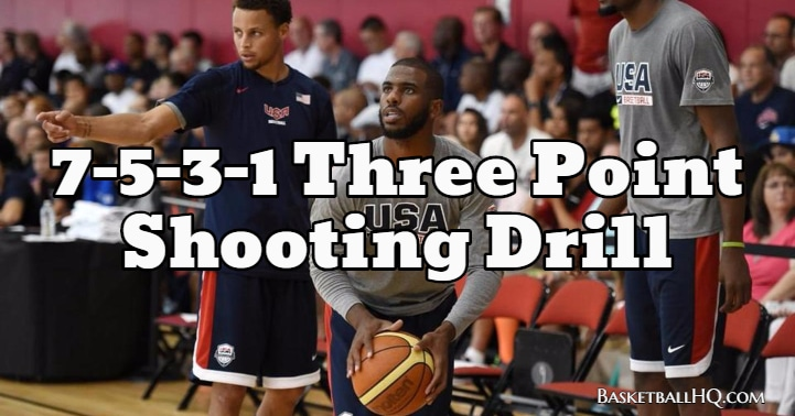 7-5-3-1 Three Point Basketball Shooting Drill