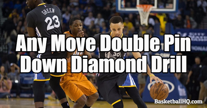 Any Move Double Pin Down Diamond Basketball Drill