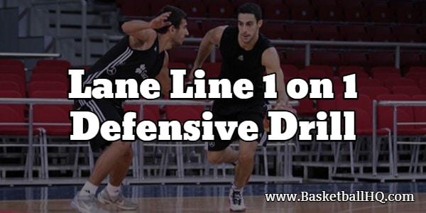 Lane Line 1 on 1 Defensive Basketball Drill