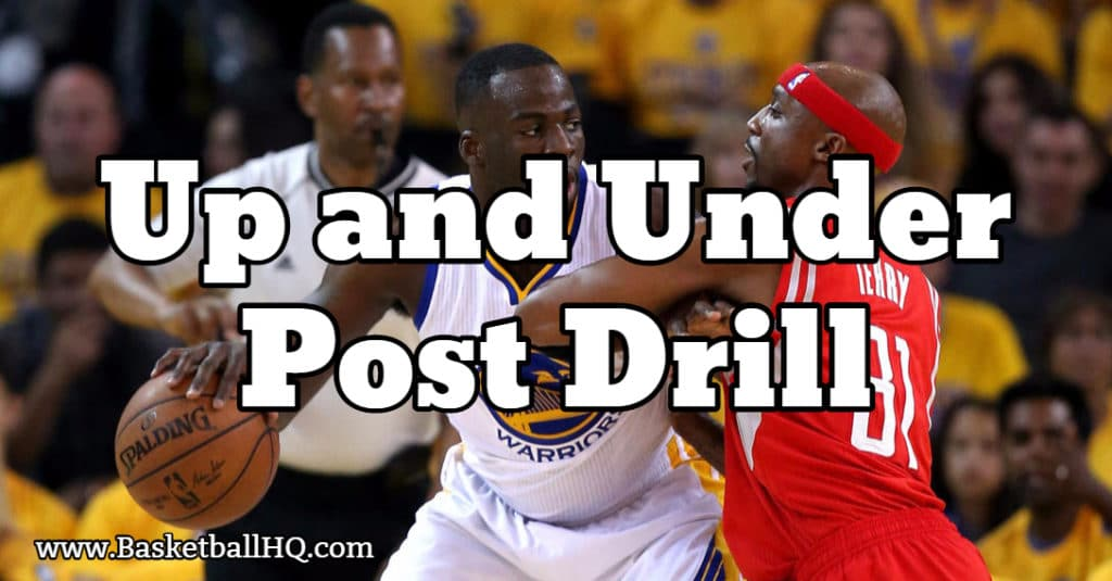 Up and Under Post Basketball Drill